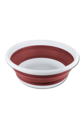 6 l foldable bowl -rust red-