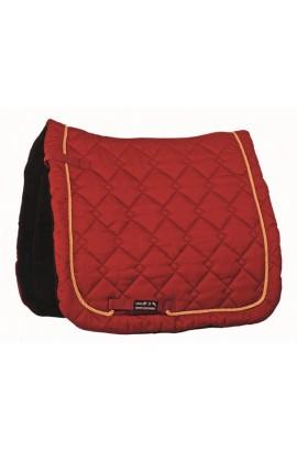 dressage saddle cloth -gently dark red-