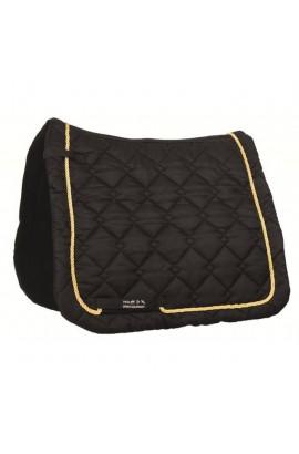 dressage saddle cloth -gently black&gold-