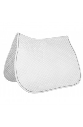 All-purpose saddle cloth -piping- white