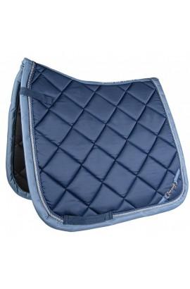 saddle cloth -golden gate bit blue-