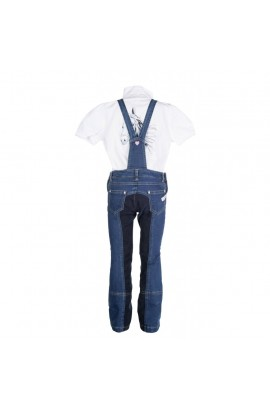 kids riding dungarees -santa fe-