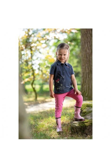 kids polo shirt -piccola graphite-