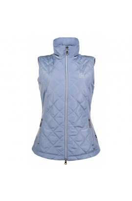 riding vest -limoni quilt smokey blue-
