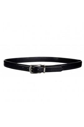 men`s leather belt  -kingston black-