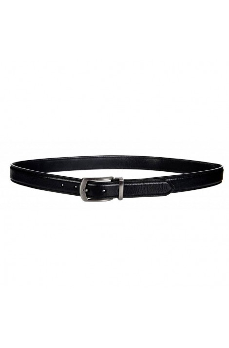 -black -kingston- leather belt for men