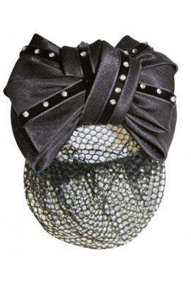 hair net -imitation diamonds black-