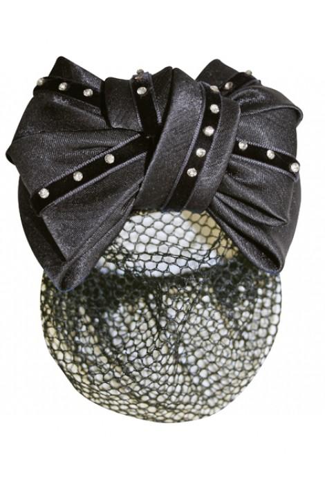 -black with diamonds- hair net