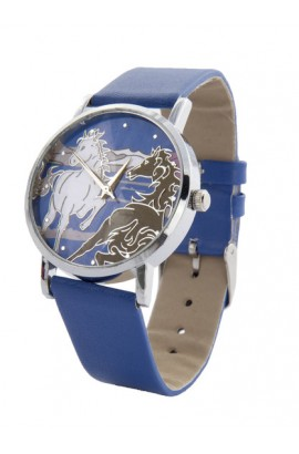 blue -horse- wristwatch