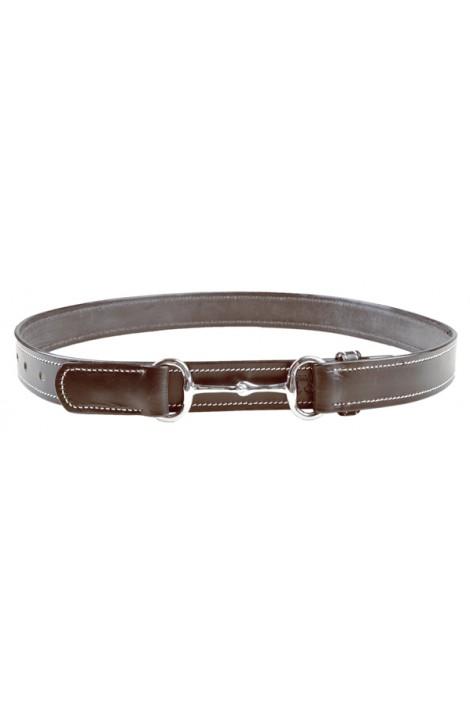 brown -snaffle bit- leather belt
