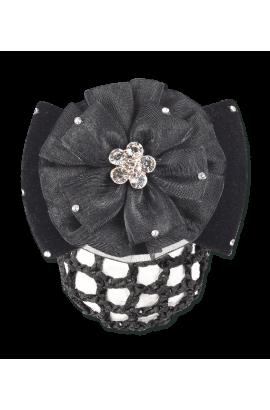 hair clip -crystal flower-