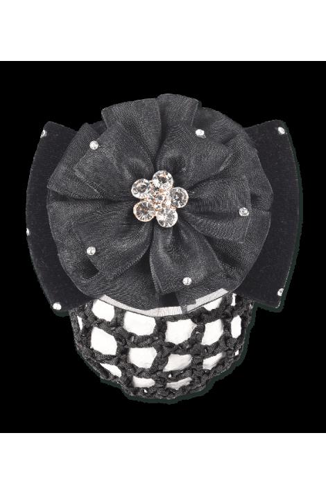 -crystal flower- hair net