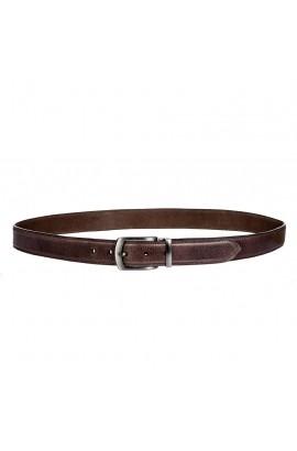 men`s leather belt -kingston dark brown-