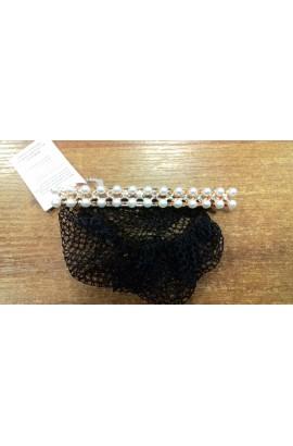hair clip -pearls&crystals-