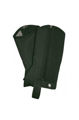 kids synthetic half chaps -nubuck imitation black-