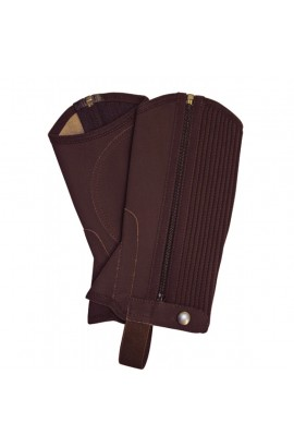 -brown nubuck imitation- synthetic chaps