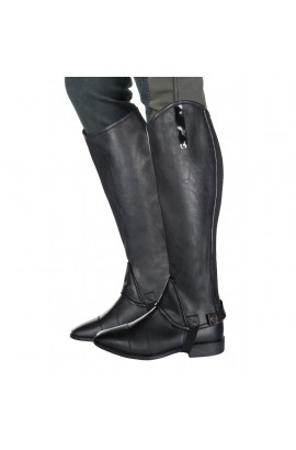 kids synthetic half chaps -elastic kids-