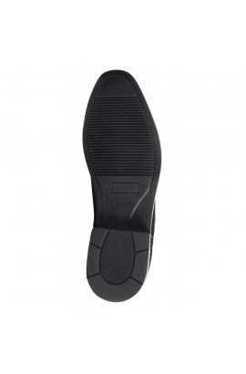 -black glitter- leather jodhpur boots