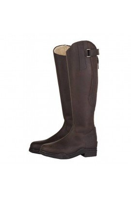 leather winter boots -country arctic brown-