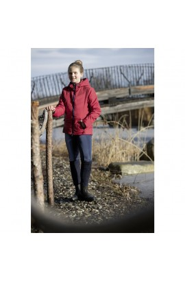 dark red -hickstead- quilted jacket