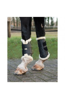 black -comfort- dressage protection boots