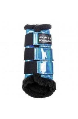 aqua -space-faux fur- protection boots