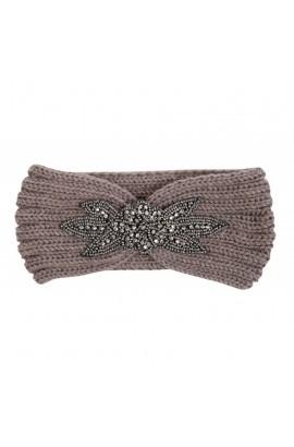 taupe -glitter- headband