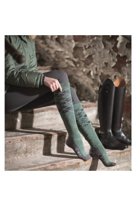 -khaki-piemont- riding socks