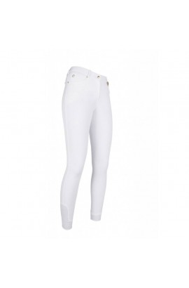Breeches with silicone -LG Basic- white