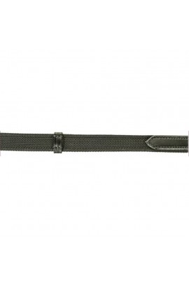 Reins, interwoven with rubber -hooks- black