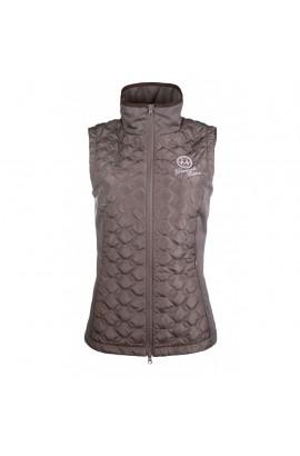 -diamonds milky- riding vest