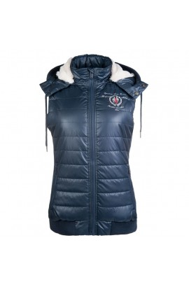 riding vest -ashley deep blue-