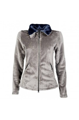 fleece jacket -soft taupe-