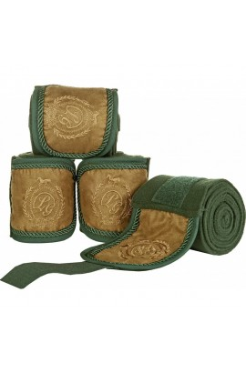 green -champagne- fleece bandages