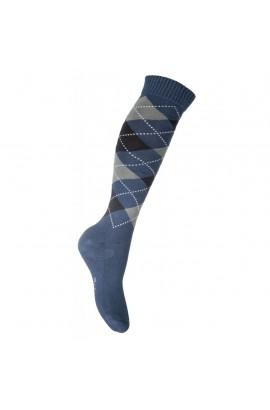 riding socks -lemmy blue square-