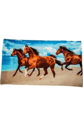 bath towel -3 horses-