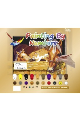 Painting Set - Horses with cat-