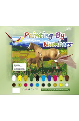 Painting Set -horse with foal-