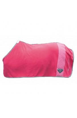fleece cooler -diamonds star- pink