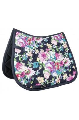-black flower- saddle cloth