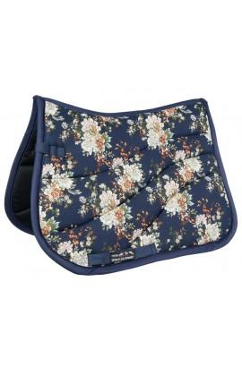 -blue flower- saddlecloth