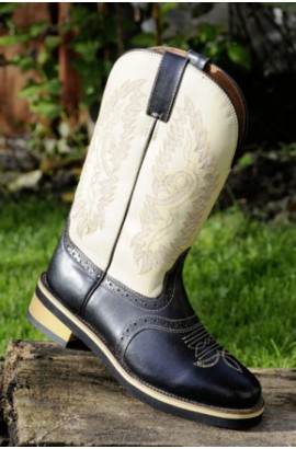western boots -light cow-